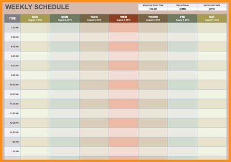 calendars that work template 11 work week calendar template agenda exle