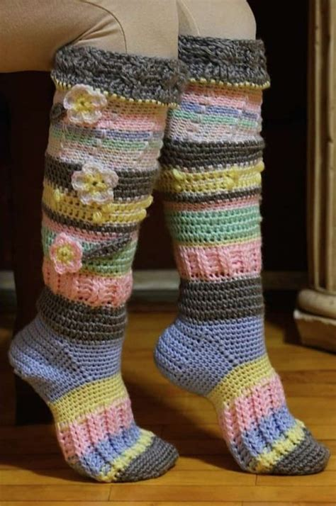 pattern crochet socks knitted knee length socks are gorgeous the whoot