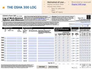 Sharps Injury Log Template by Osha 300 Log Template Osha 300 Forms 7 Free Documents In