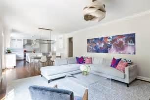 Gray And Orange Bedroom - wohnzimmer und k 252 che in einem raum gestaltungsideen