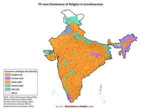 India Religion Map by Parliamentary Constituency Wise Dominance Of Religion In