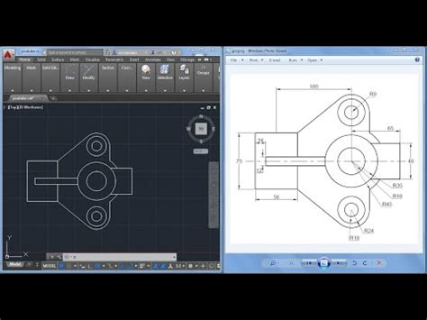tutorial qcad youtube autocad mechanical drawing exercises pdf auto cad