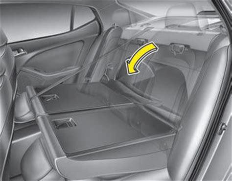 Kia Sorento Rear Seats Fold Kia Optima Gt Gt Rear Seat Adjustment Seat Safety