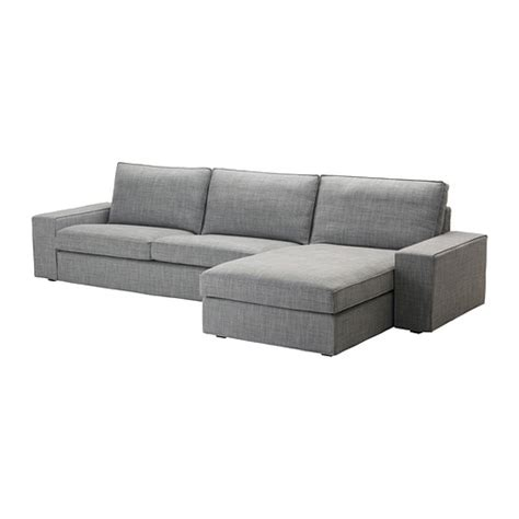 kivik chaise lounge kivik three seat sofa and chaise longue isunda grey ikea