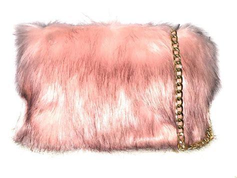 Fluffy Bag designer plain faux fur fluffy clutch bag with