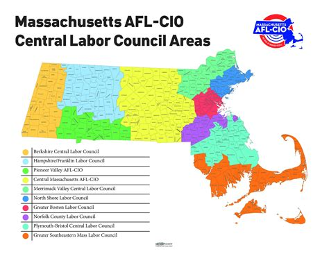 clc map central labor councils massachusetts afl cio