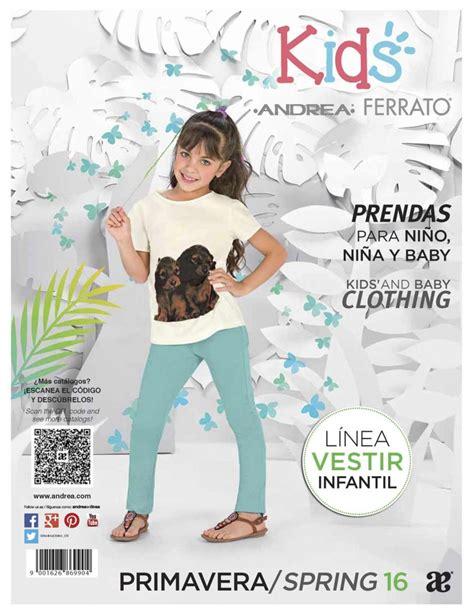 catalogos ropa interior catalogo andrea infantil ropa para ni 241 as primavera 2016