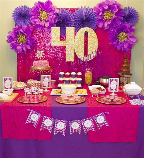 hot pink themes 13 best images about 40th birthday party ideas on