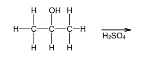 propanol diagram solved the image shows the dehydration of 2 propanol in s