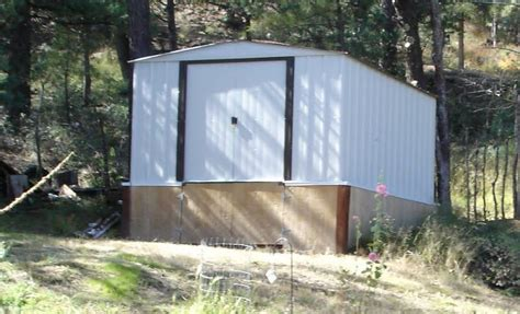 get more out of a cheap metal shed install skirting