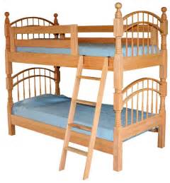 amish pine hollow bow bunk bed