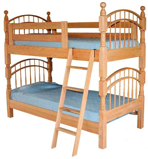 bunk bed amish pine hollow bow bunk bed