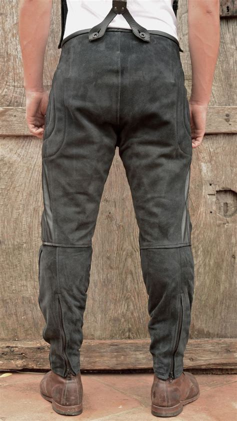 mens leather riding rascal leather motorcycle pants black cl pinterest