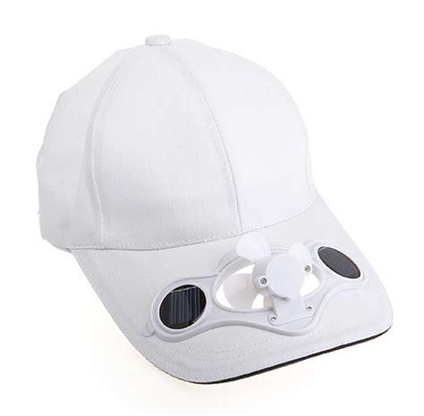 hat with fan built in solar fan cap will keep you cool in summer