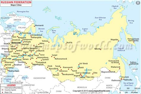 russia political map with cities russia political map major cities www pixshark