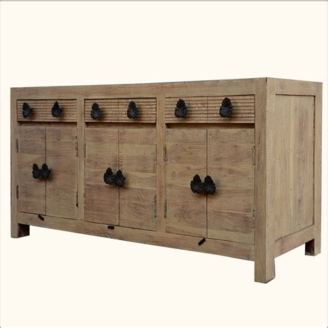 sideboard cabinet rustic reclaimed wood buffet chest weathered storage