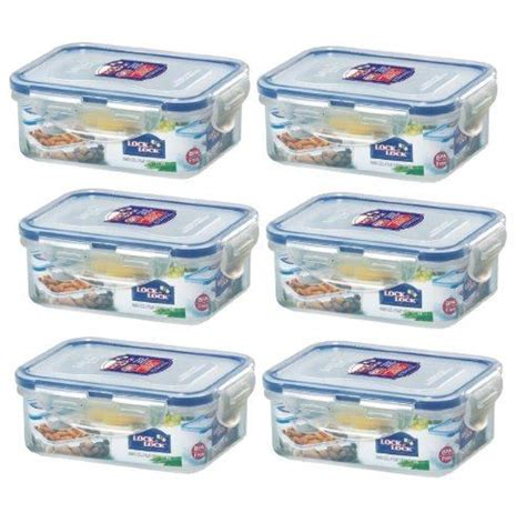 Lock Lock Gift Set Plastic Food Container 4 Item 1 6 x lock lock plastic food storage container 350ml hpl806 ebay