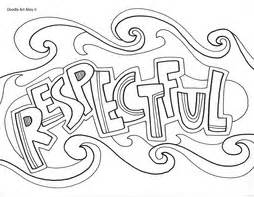 coloring pages respect free respectful coloring page best behavior pinterest