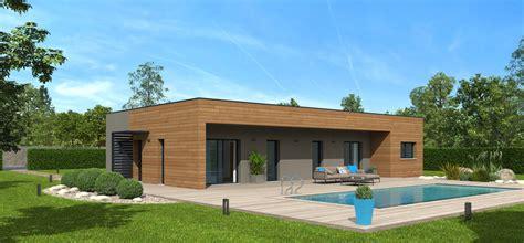 Extension Bois Prix M2 628 by Plan Maison Bois Mod 232 Le Natimamba Toit Terrasse Natilia