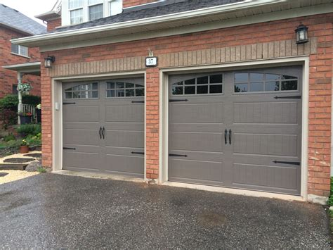 Adding Windows To Overhead Garage Door - 8x7 clopay steel insulated bronze carriage doors with true