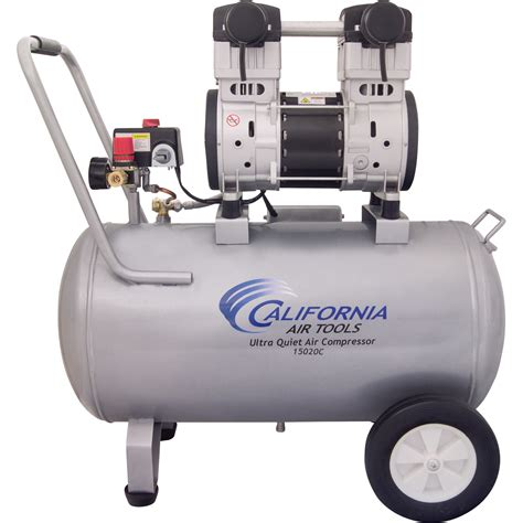 california air tools ultra portable electric air compressor 2 hp 15 gallon horizontal