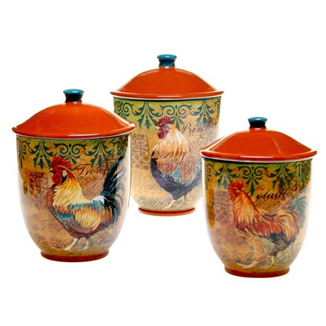 rooster canisters kitchen products 4 hammered antique copper canister set 1843 the home depot