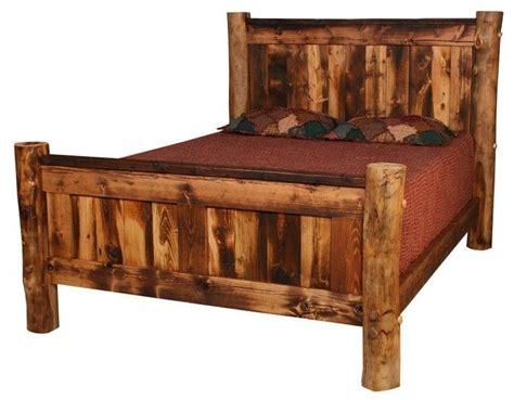 cedar stuff com rustic log furniture pinned with homestead ridge panel bed rustic cabin bed frames