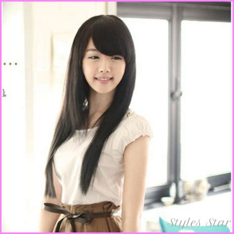 hairstyle for long face korean korean haircut for girls with round face stylesstar com