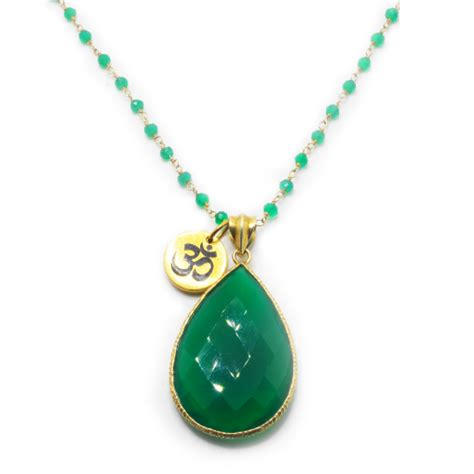 Green Agate Pendant Necklace green agate necklace with green agate pendant awaken the