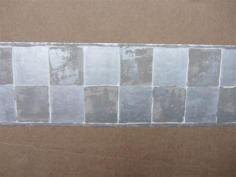 self adhesive wallpaper borders uk modern metallic squares grey wallpaper border self adhesive hallway stairs roof ebay