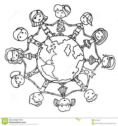 Enfants Autour Du Monde Illustration De Vecteur Image