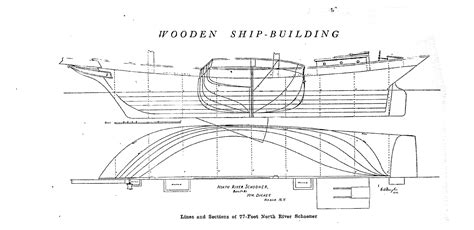 lines drawing boat building free ship plan lines drawing schooner north hudson
