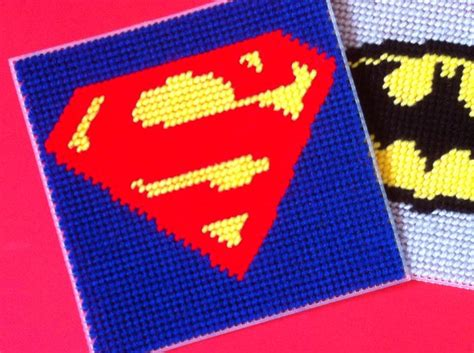 canva square superhero plastic canvas square by kandy kreations craftsy