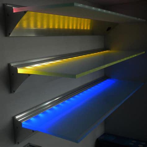 Led Light Shelf by Led Lighting Glass Shelves Lighting Xcyyxh