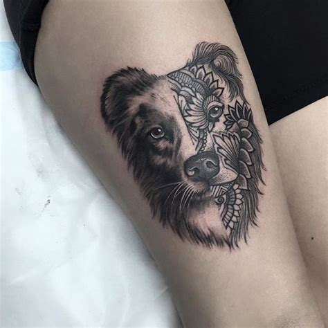 cute dog tattoo venice tattoo art designs