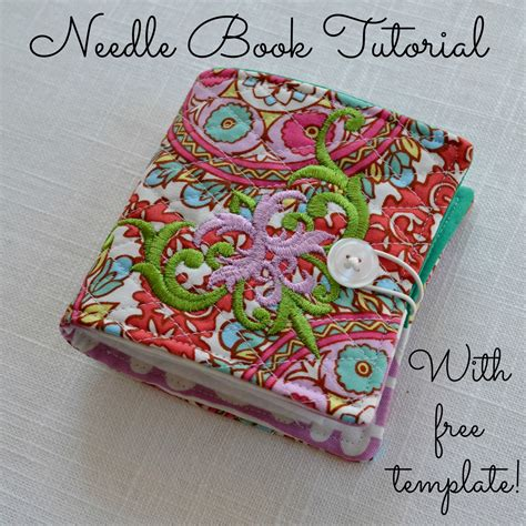 Free Pattern Needle Case | the domestic doozie needle book tutorial with free template