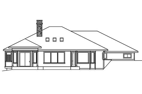 Prairie Style House Plans   Elmhurst 30 452   Associated