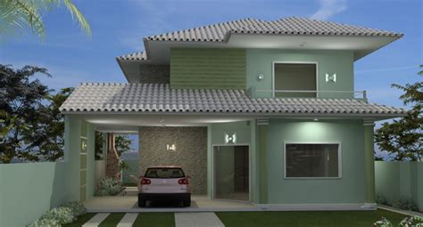 imagenes fachadas verdes cores de casas tend 234 ncias e fotos para pintura externa