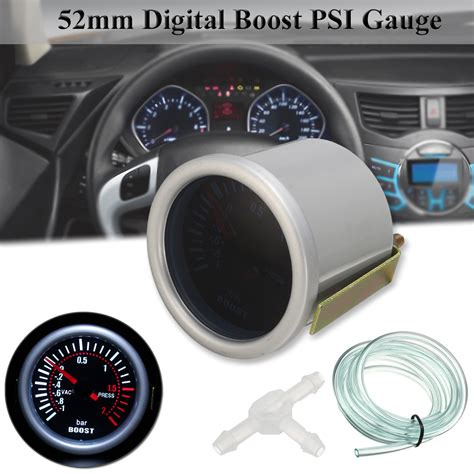 led len auto universal 2 inch 52mm car auto led digital smoke len boost