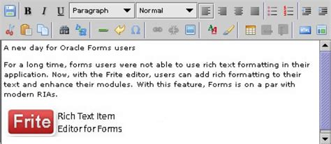 design text editor in java forms rich text editor java bean oracle forms pjcs java