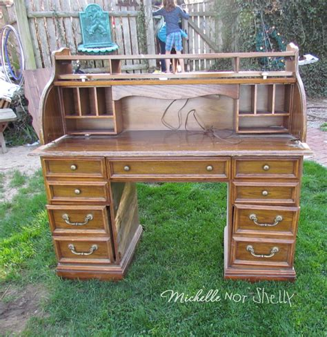 an roll top desk makeover