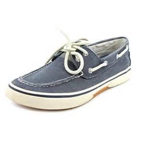 Top sider halyard 2 eye mens size 12 blue fabric boat shoes ebay