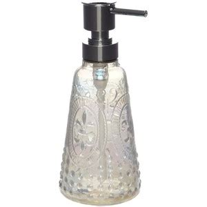 shabby chic glass embossed fleur soap dispenser polyvore