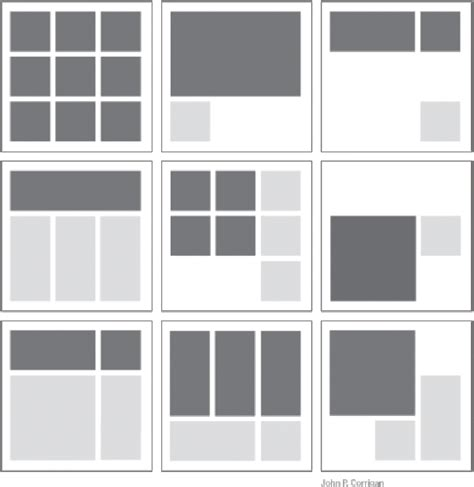 email layout grid organizing form and content central air nomadic art space
