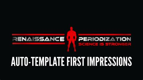 Renaissance Periodization Auto Template First Imp Youtube Renaissance Periodization Template