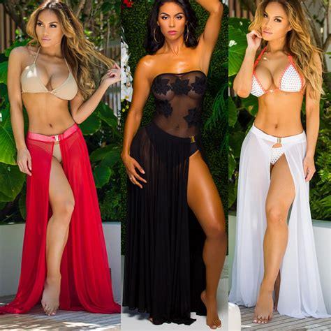 Pareo Skirt Instant 21 cover up swimwear coverup sarong wrap pareo skirt swimsuit us stock ebay