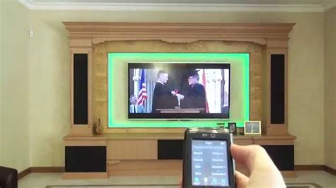 home theater  led light control custom design
