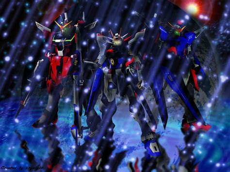 wallpaper anime gundam seed destiny anime destiny trio ace gundam seed hd wallpaper pictures