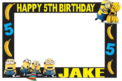 minions photo booth layout minions photo booth frame