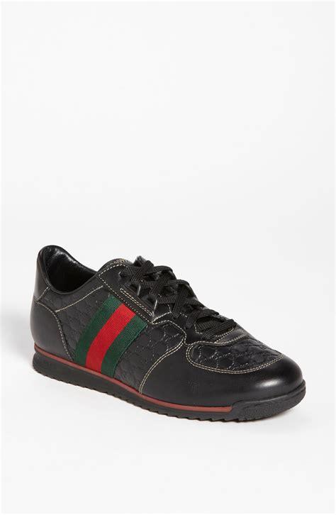 black gucci sneakers gucci sport sneaker in black lyst